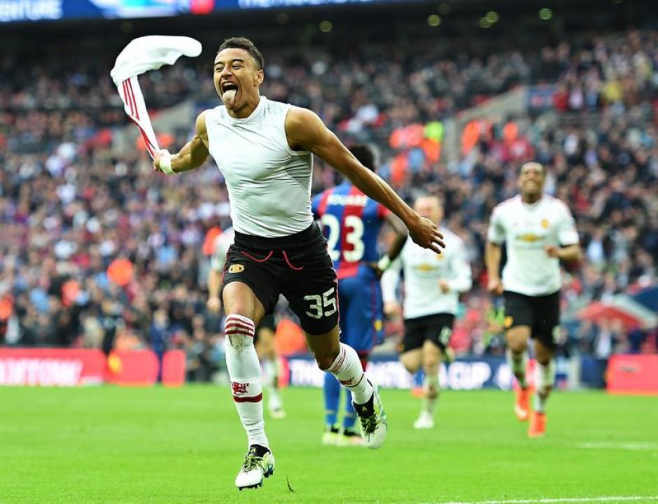 Jesse Lingard marcó el gol del triunfo para el Manchester United. (Foto: EFE)