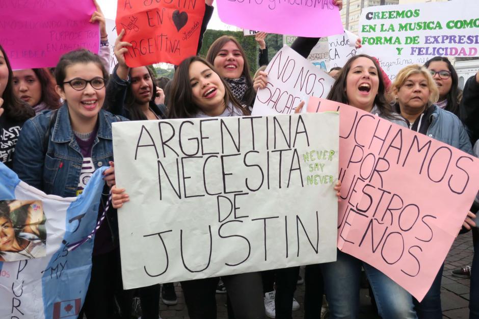 La masiva concentración tuvo lugar en El Obelisco, en Buenos Aires. (Foto: EFE)