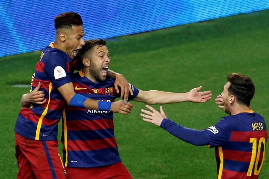 Jordi Alba fue la figura para el FC Barcelona. (Foto: EFE)