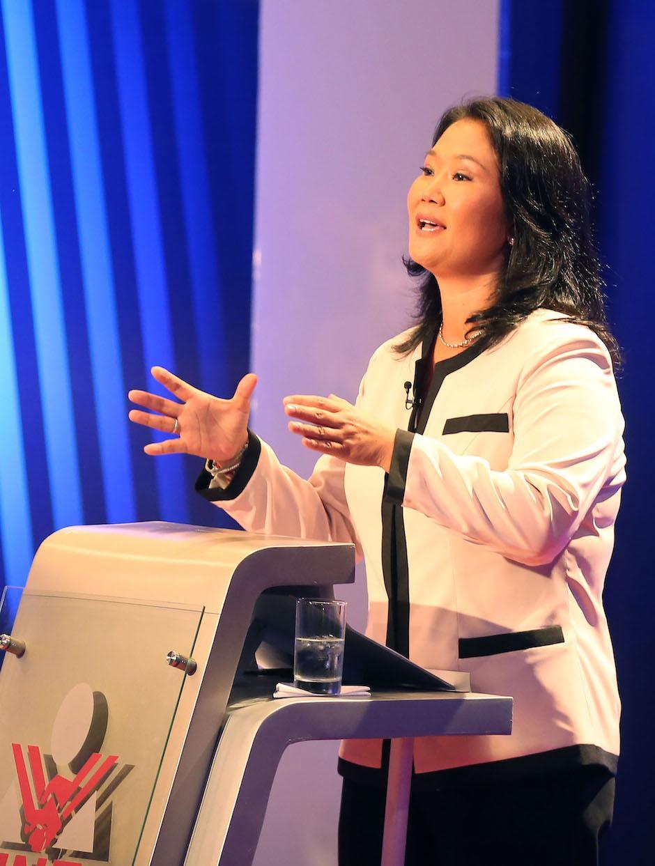 Fujimori se instaló a la cabeza de la intención de voto para al balotaje presidencial en Perú, con un 46.1%. (Foto: EFE)
