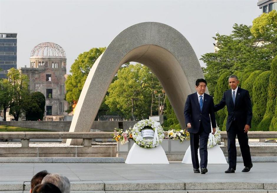 El presidente de Estados Unidos, Barack Obama , y el primer ministro nipón, Shinzo Abe. (Foto: Efe)