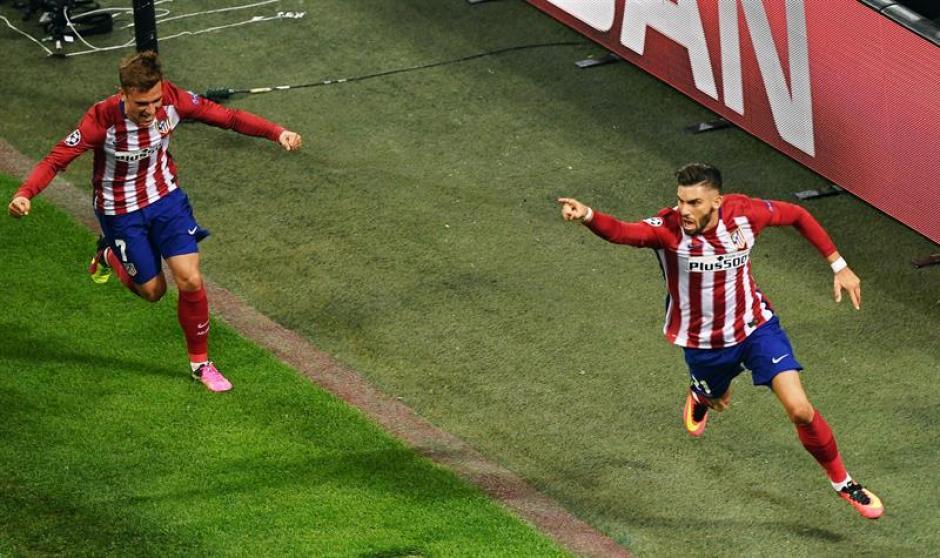Así celebró Carrasco el 1-1 en el partido de la final de la Champions. (Foto: EFE)