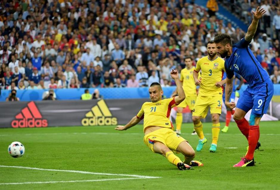 Francia superó a Rumania en el primer duelo de la Euro. (Foto: EFE)