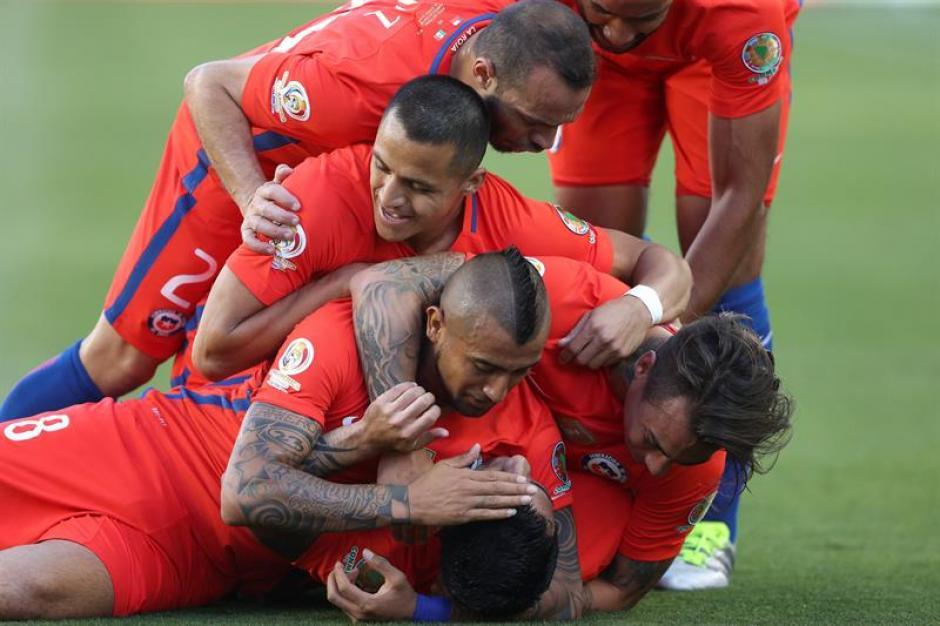 Chile domina a méxico 1er tiempo foto