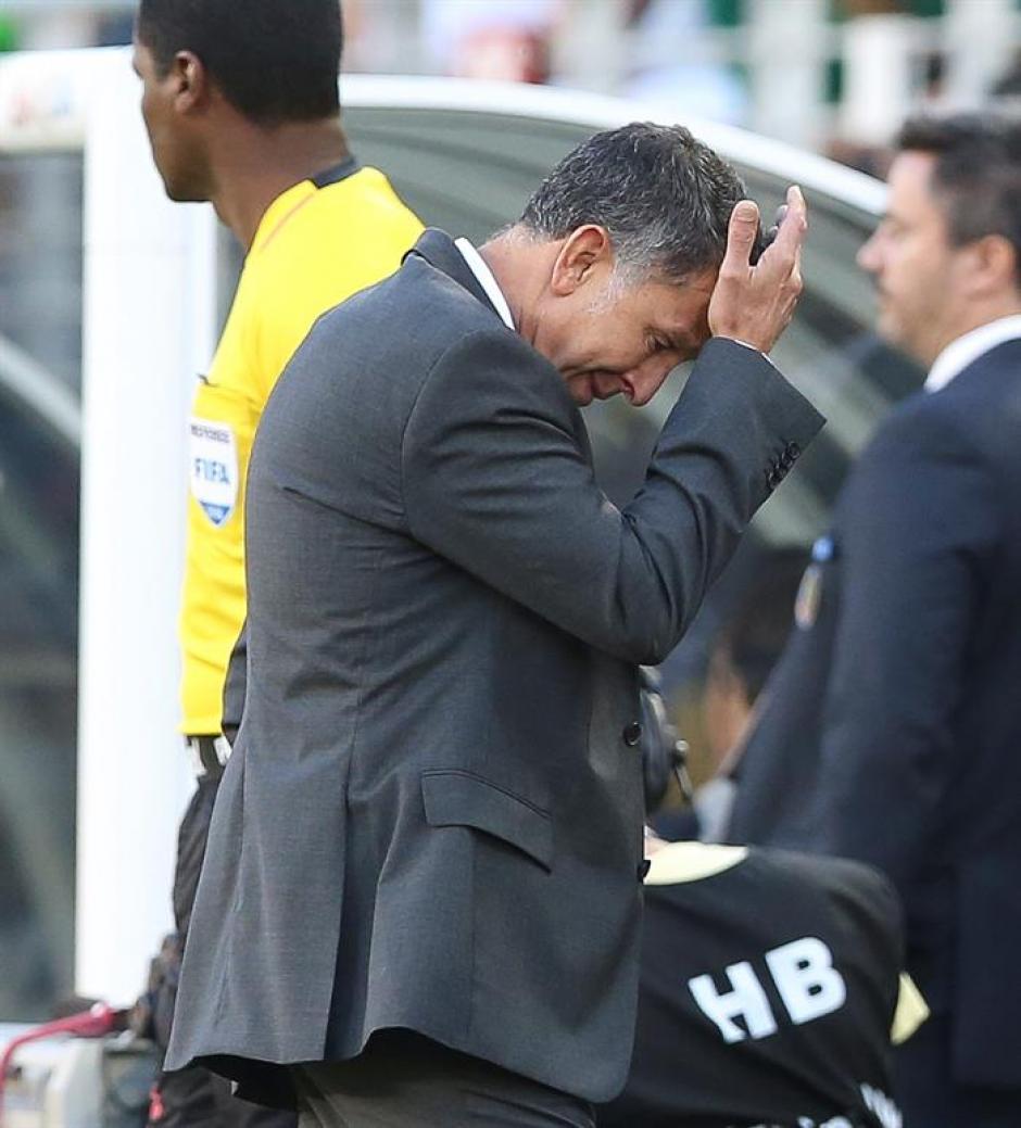 El técnico Osorio sufrió con la humillante derrota de México. (Foto: EFE)