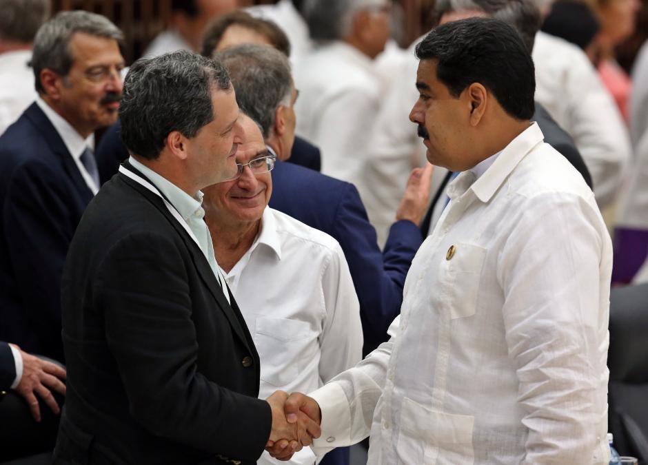 Nicolás Maduro también estuvo presente en el acto. (Foto: EFE)