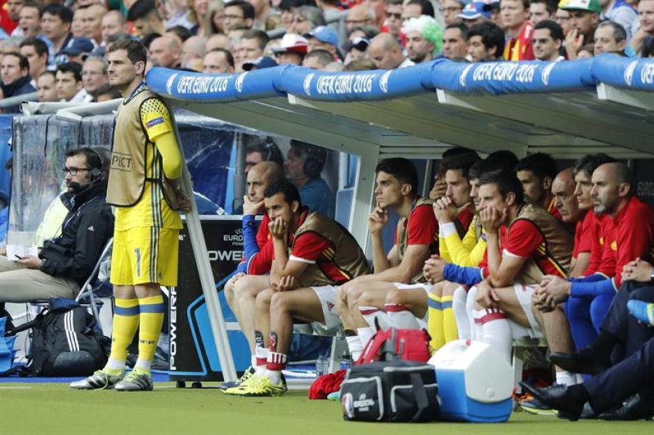 Casillas no pudo ver el partido sentado (EFE)