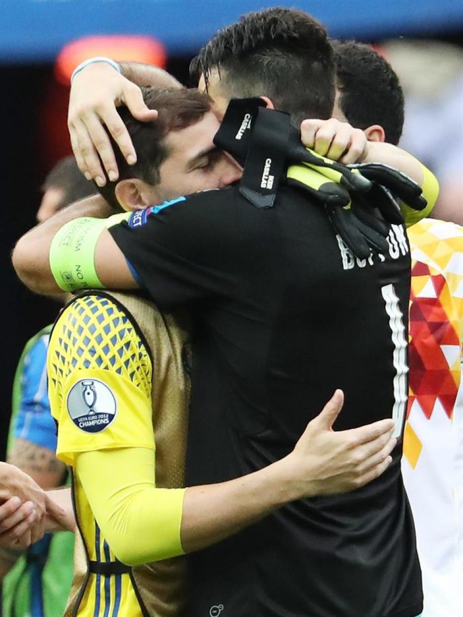 Buffon buscó a Iker para despedirse (EFE)