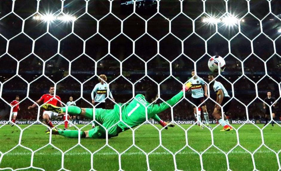 Gales marcó tres goles a Bélgica y avanza a semifinales. (Foto: EFE)
