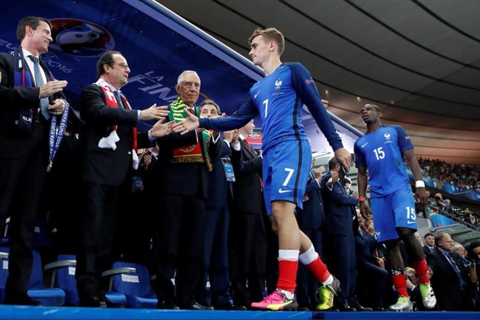 Antoine Griezmann perdió la final pero fue el goleador y el mejor jugador de la Euro. (EFE)
