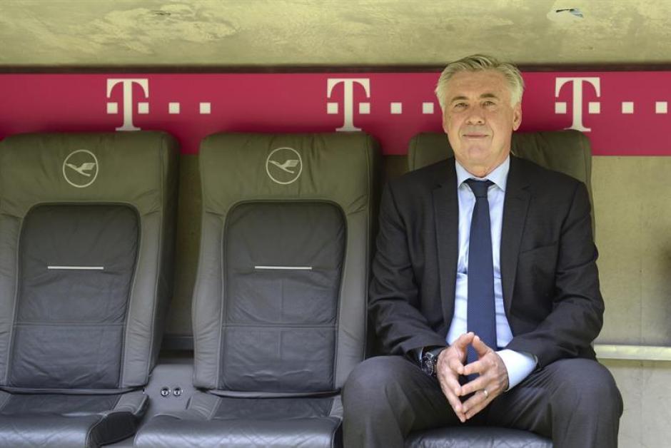 Carletto en el banquillo del Allianz Arena. (EFE)