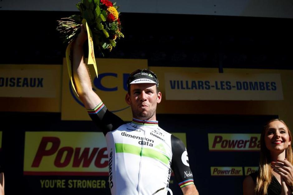 Mark Cavendish celebra su victoria. (Foto: EFE)