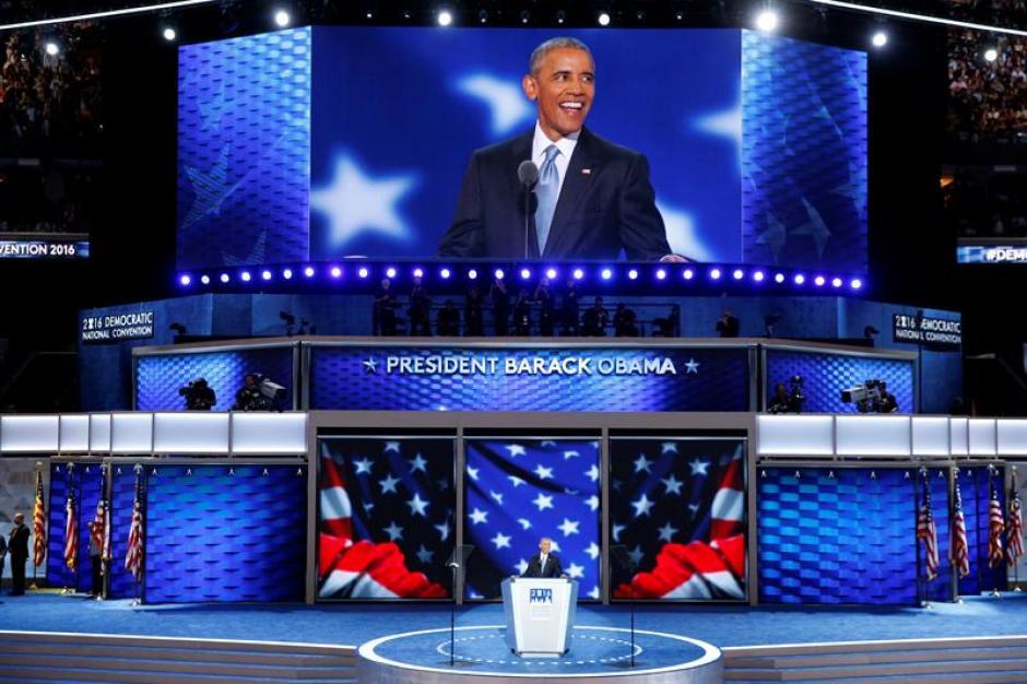 Obama fue ovacionado en todos los pasajes del discurso. (Foto: EFE)