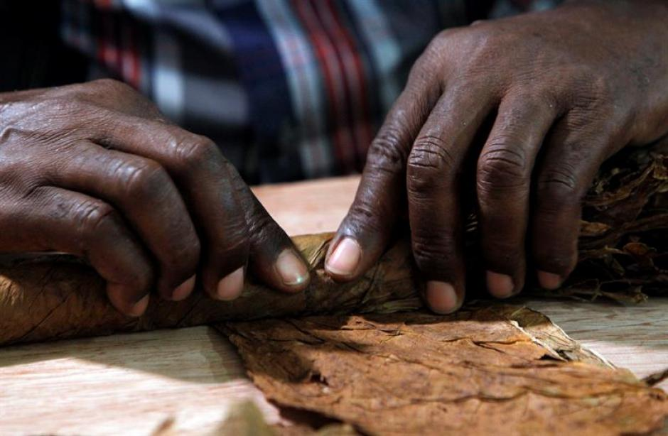 El tabaquero de 72 años, laboró por 10 días, durante jornadas de doce horas, para fabricar el puro. (Foto: EFE)