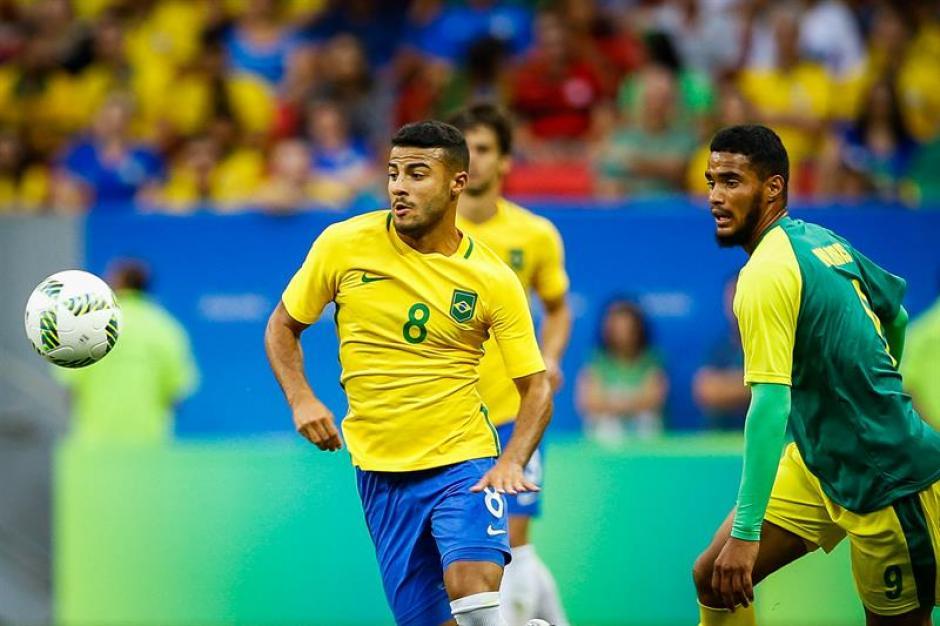 Sudáfrica le sacó el empate en casa a Brasil en el futbol de Río 2016. (Foto: EFE)