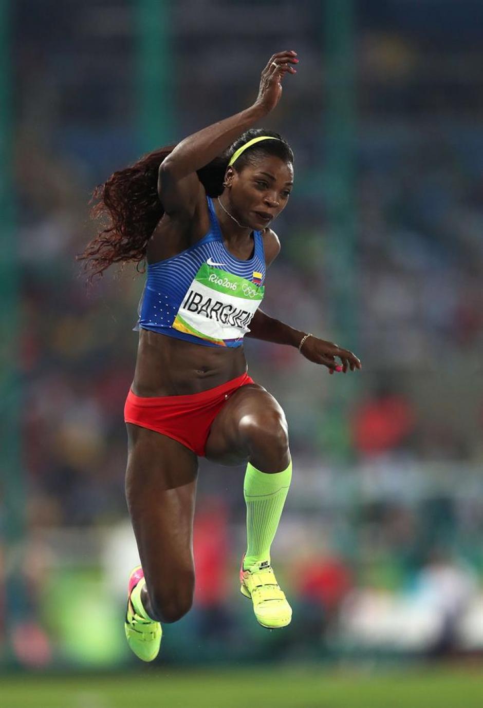 Ibarguen da un nuevo salto a la gloria y le da otra medalla a Colombia. (Foto: EFE)