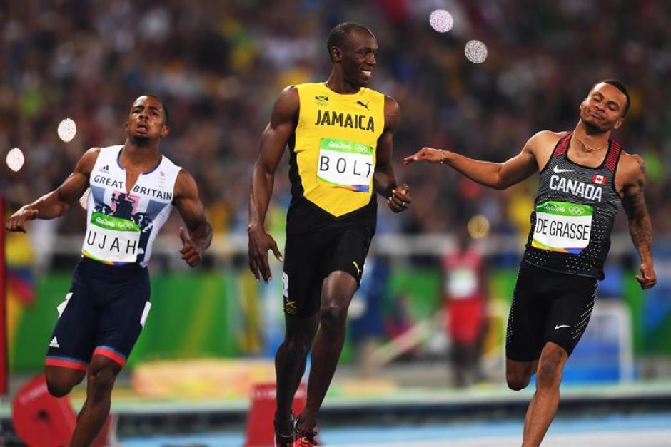 Usain Bolt vuelve a subir a lo más alto del podio en Río 2016. (Foto: EFE)