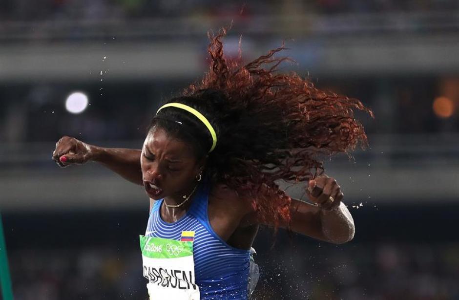 La reina de salto triple en Río 2016 es colombiana. (Foto: EFE)