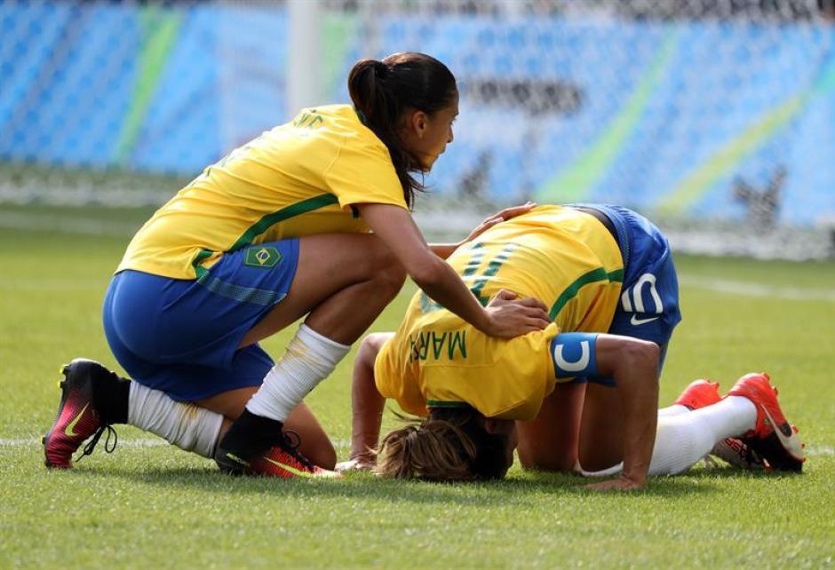 Marta no pudo llevar a Brasil al oro olímpico. (Foto: EFE)