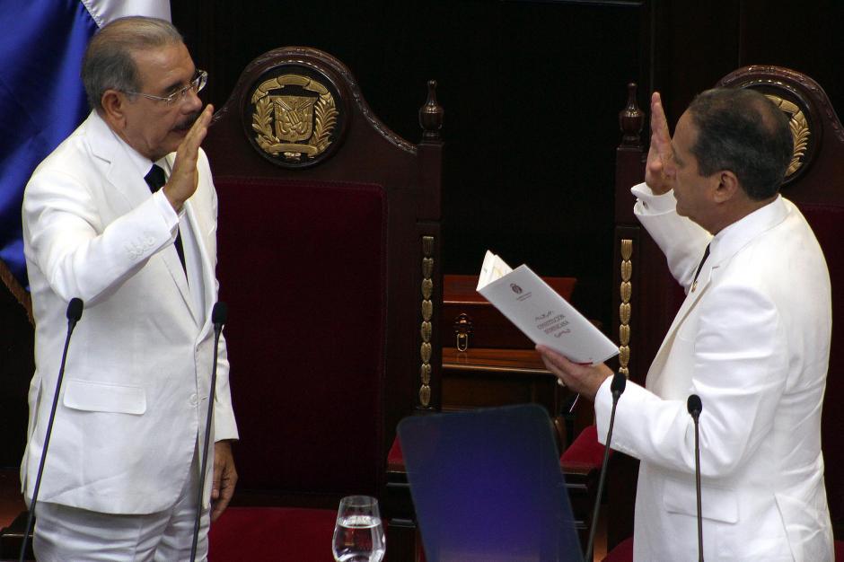 El Presidente viajó para asistir a la toma de posesión de Danilo Medina. (Foto: EFE)