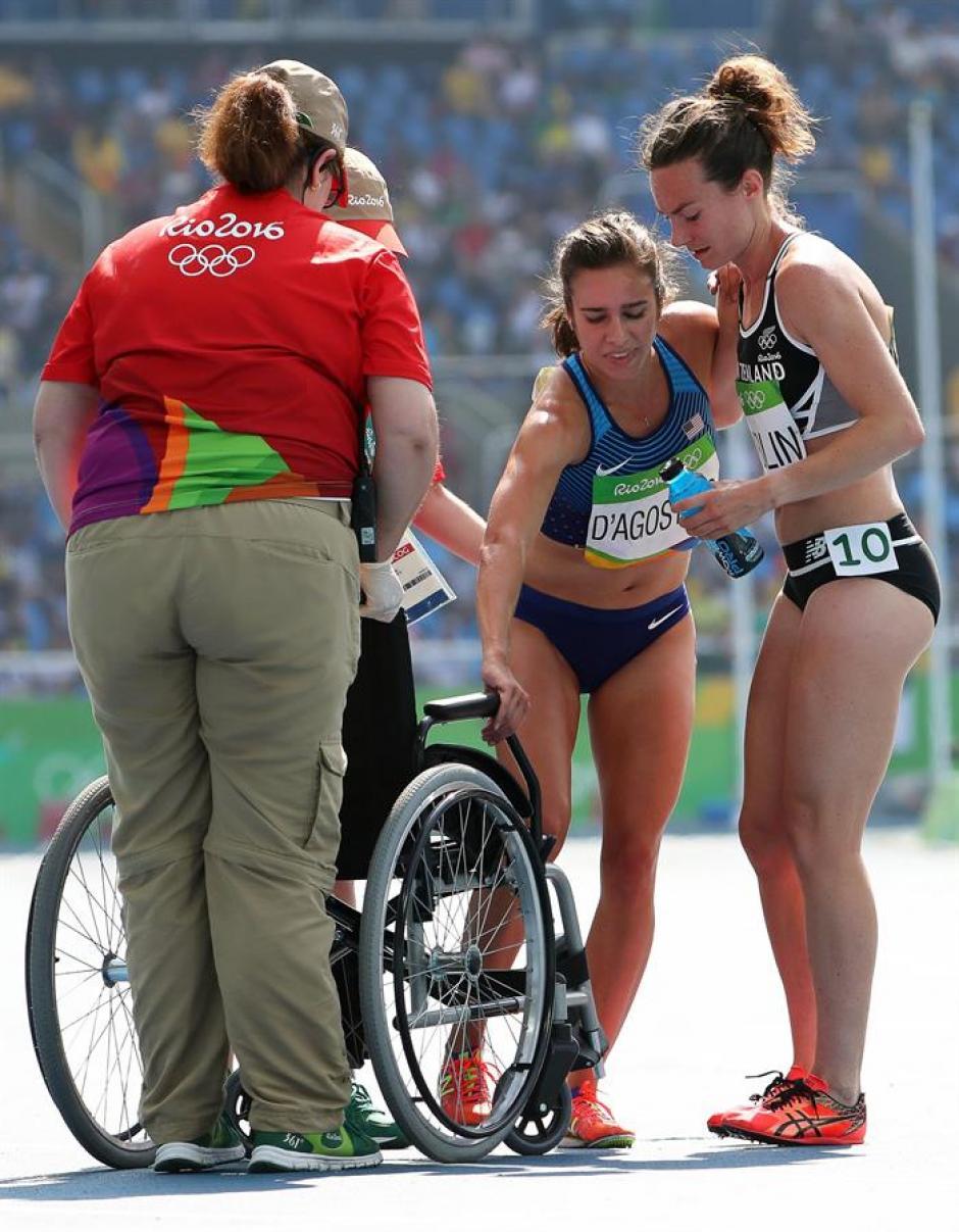 D'Agostino terminó la carrera y directo se fue a una silla de ruedas. (Foto: EFE)