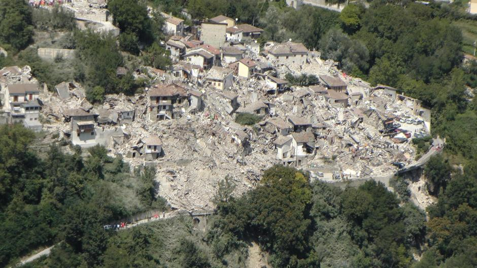 El terremoto se produjo cerca de la zona de Accumoli, en la provincia de Rieti. (Foto: EFE)