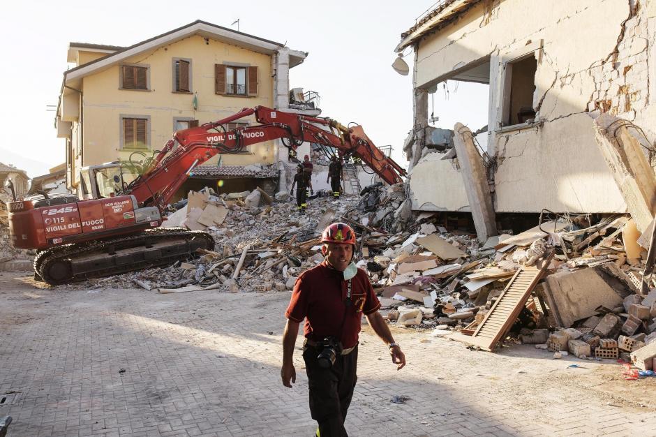 El sismo derrumbó varias localidades de la provincia de Rieti. (Foto: EFE)