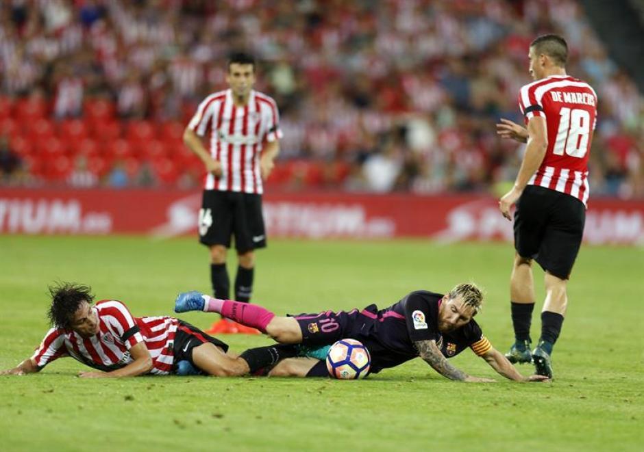 Leo Messi continúa con molestias en el pubis. (Foto: AFP)