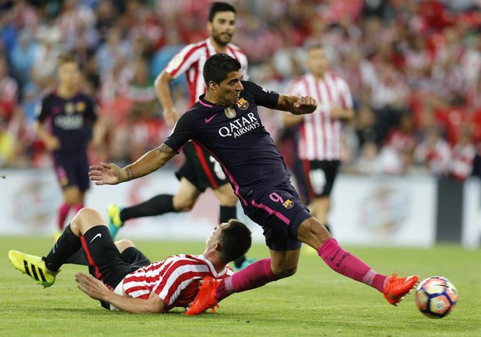 El nueve del Barça falló ocasiones muy claras en San Mamés. (Foto: EFE)