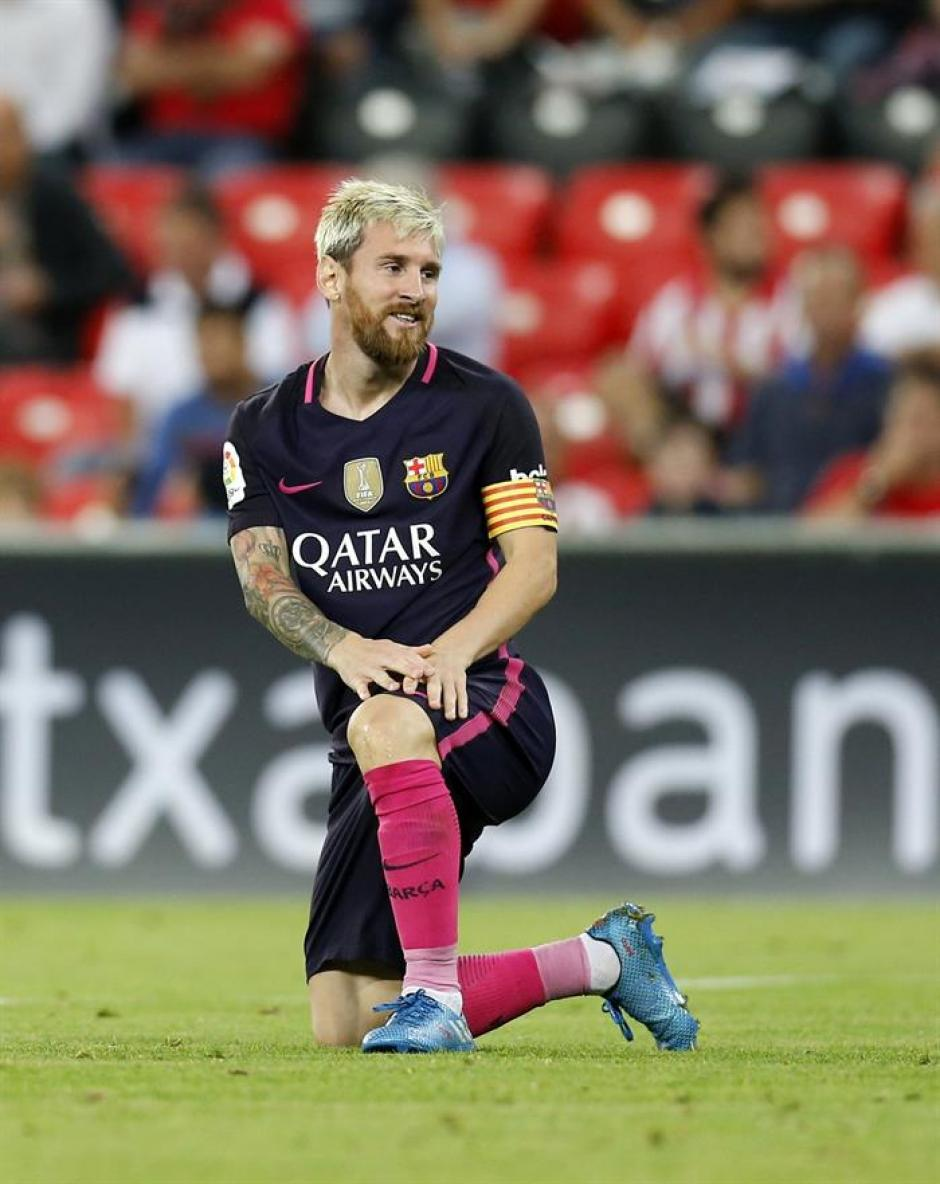 Leo arrastra las molestias desde el partido contra el Athletic. (Foto: EFE)