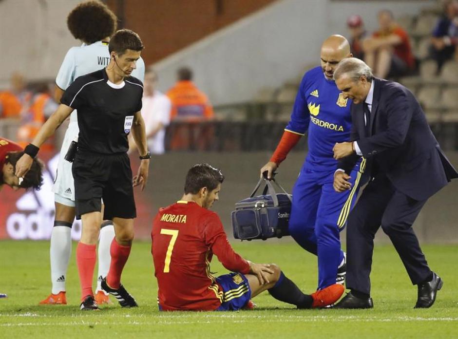 La mala noticia fue la lesión de Álvaro Morata. (Foto: EFE)