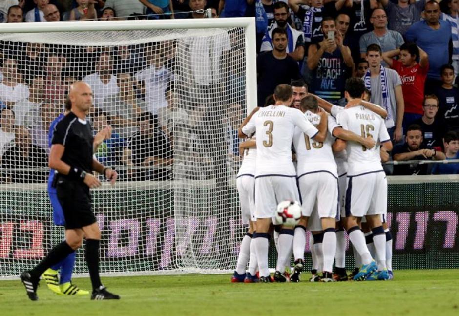 Italia venció 1-3 en Israel. (Foto: AFP)