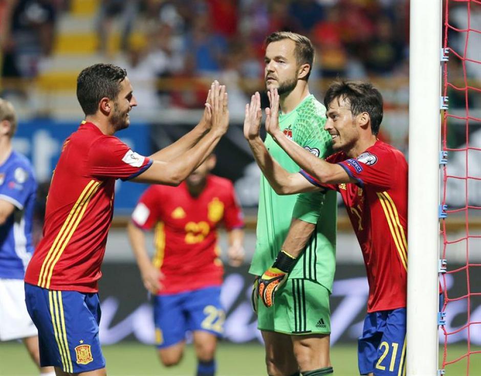 La Roja venció con claridad 8-0 a Liechtenstein. (Foto: AFP)