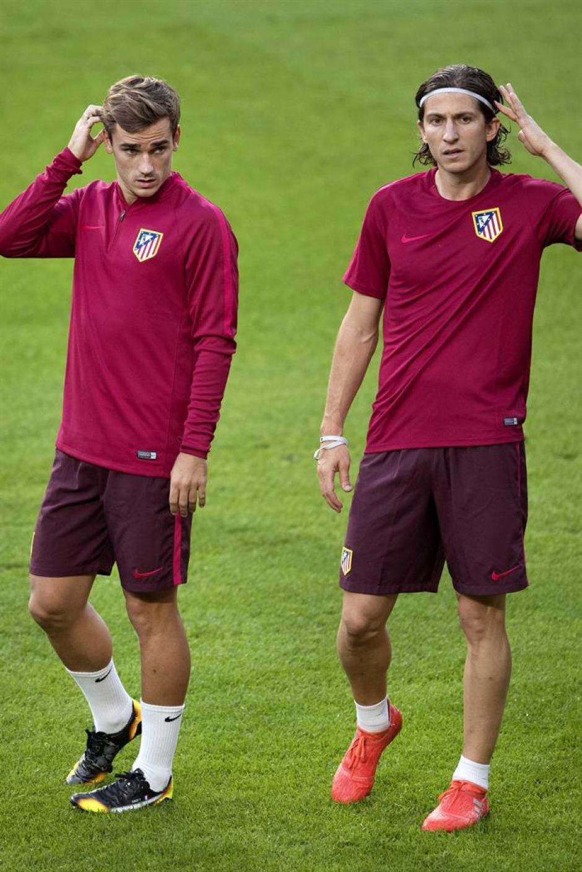 Griezmann y Filipe Luis gozaron de un feliz descanso. (Foto: EFE)