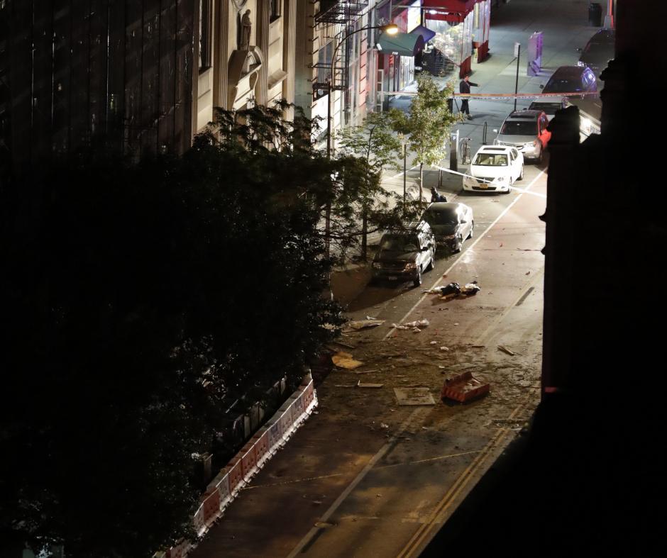 El sábado por la noche ocurrió en Manhattan una explosión a las 20:30. (Foto: EFE)