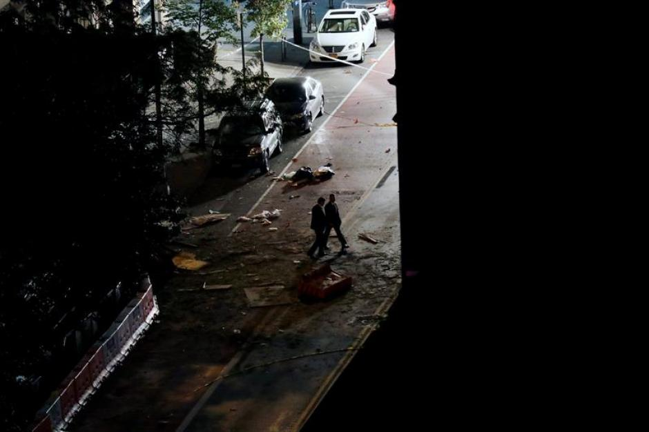 Así quedó la zona donde detonaron la bomba. (Foto: EFE)