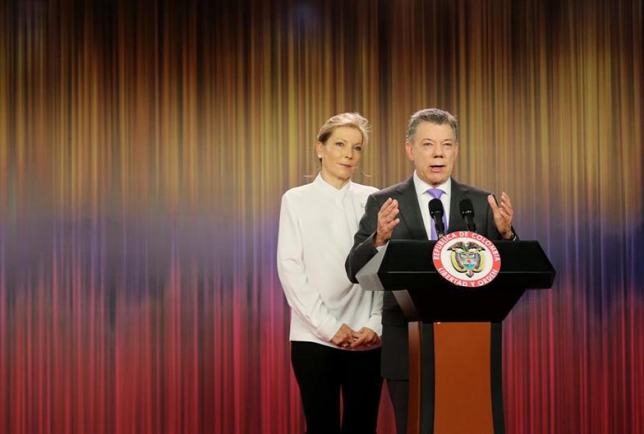En conferencia de prensa dijo sentirse agradecido y dedicó el Nobel a los colombianos. (Foto: EFE)