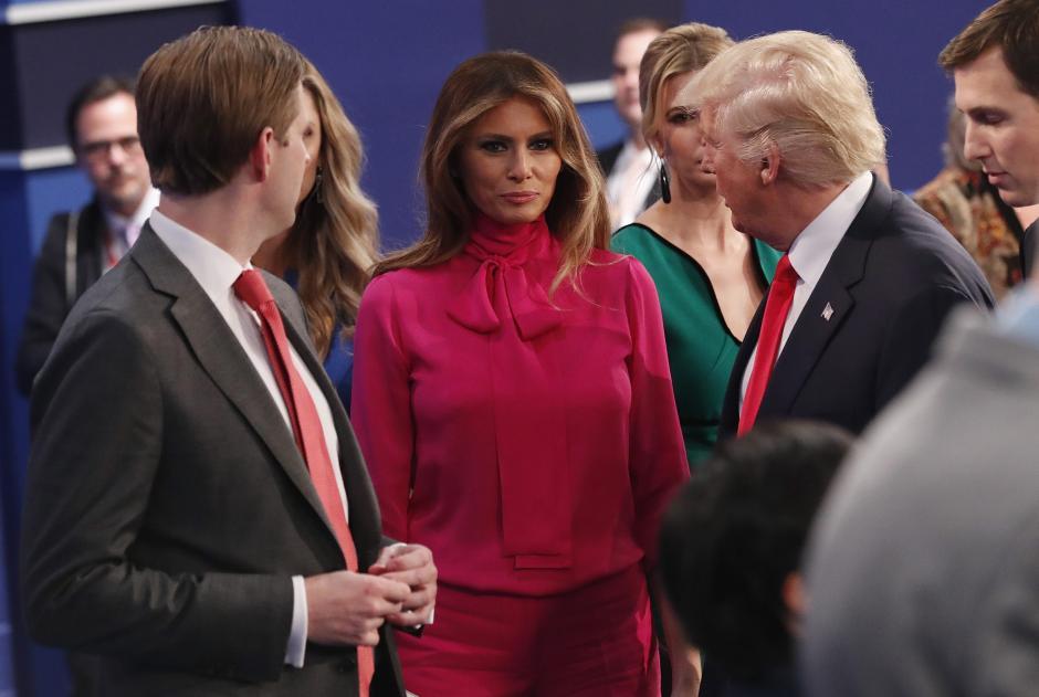 Melania también asistió al debate para apoyar a su esposo, Donald Trump. (Foto. EFE)