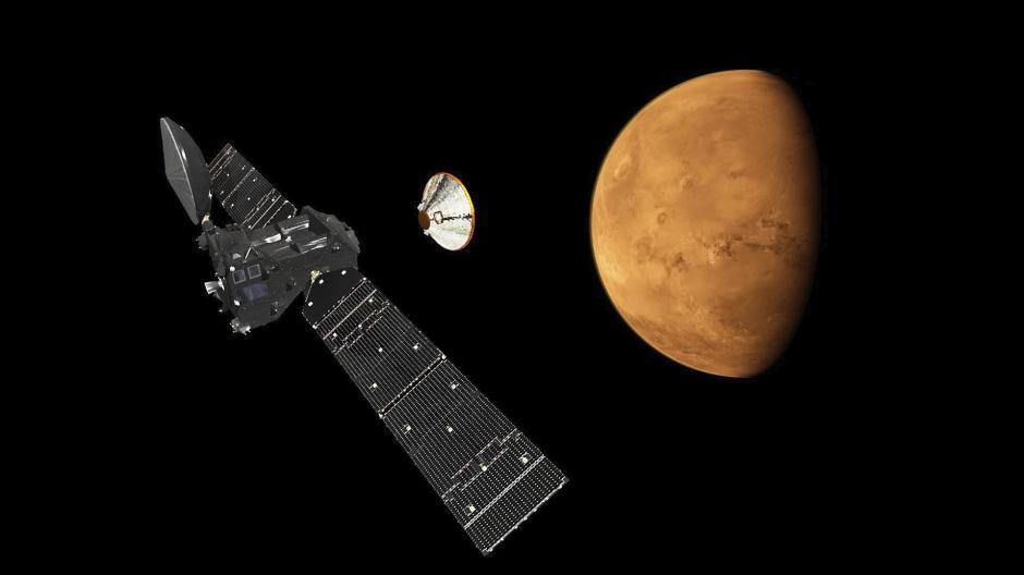 La misión la conforma una empresa conjunta entre la Agencia Espacial Europea (ESA) y la corporación estatal rusa Roscosmos. (Foto: EFE)