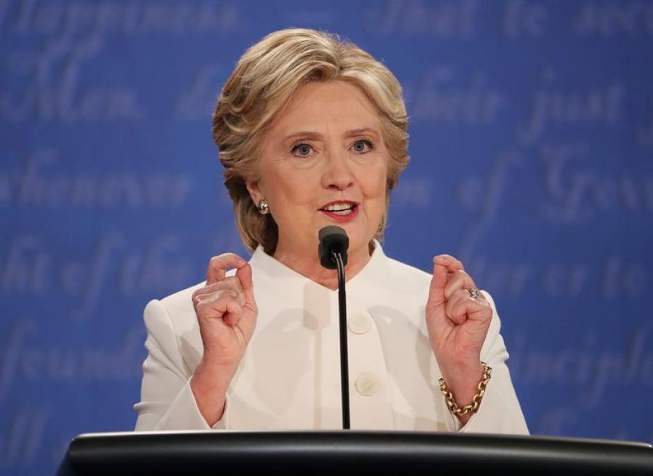 Según varios sondeos de cadenas de noticias dan por ganadora a Hillary Clinton. (Foto: EFE)