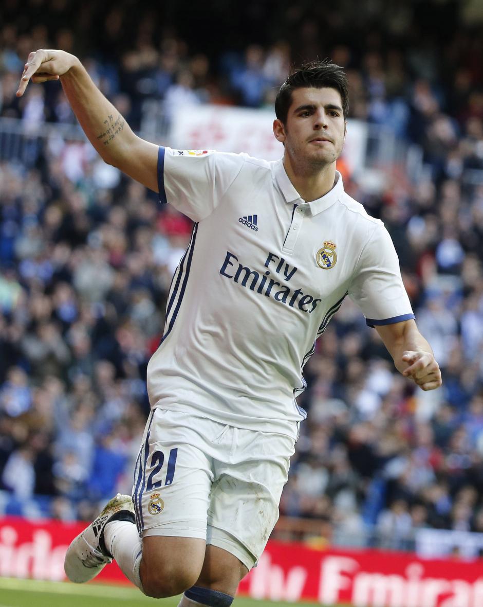 Álvaro Morata puso el 3 - 0 durante el encuentro. (Foto: EFE)