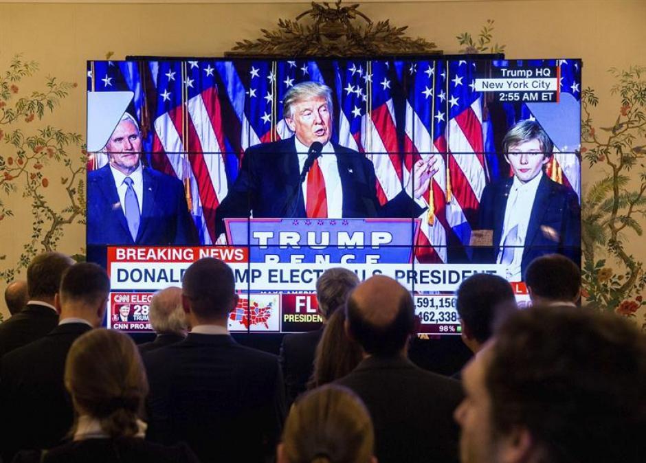 Trump derrotó a Hillary Clinton en la carrera por la Casa Blanca. (Foto: EFE)