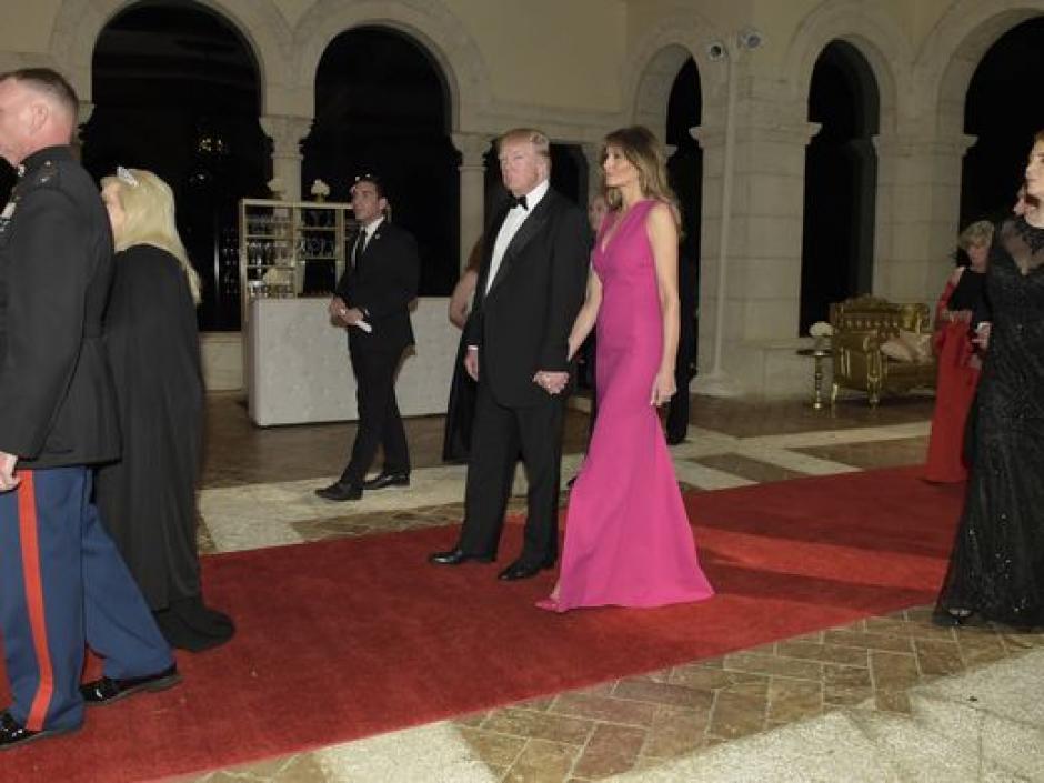 La pareja presidencial en una gala en el famoso club. (Foto: USA TODAY)