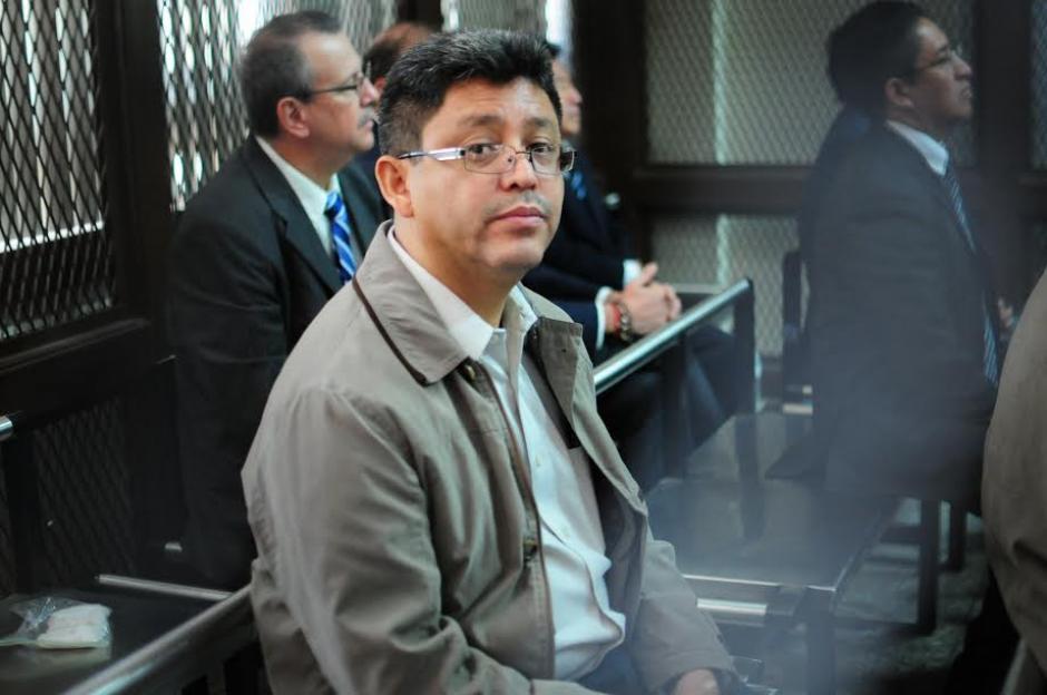 El exjefe de la SAT, Omar Franco, presente en la audiencia de primera declaración del caso la Línea 2. (Foto: Alejandro Balán/ Soy502)
