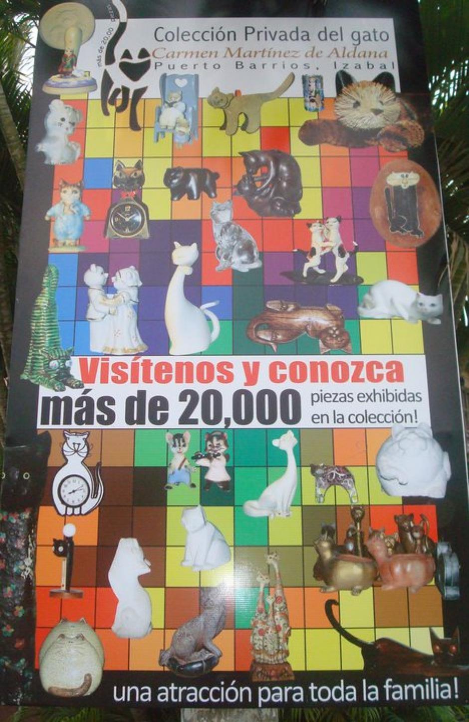 Su colección empezó en 1953 con tres gatos. (Foto: Carmen de Aldana)