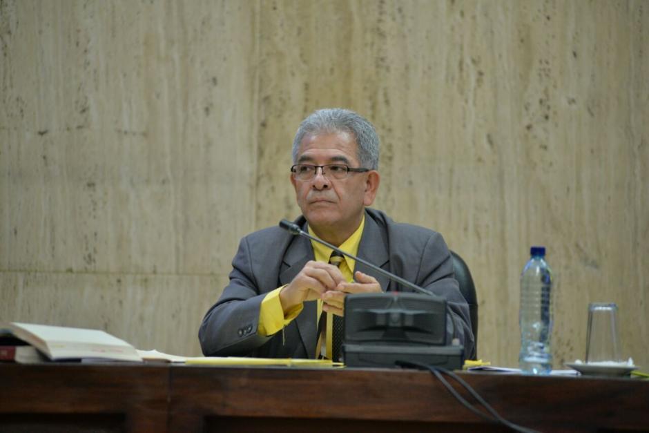 """El juez de Mayor Riesgo """"B"""" Miguel Ángel Gálvez en la continuación de la audiencia. (Foto: Wilder López/Soy502)"""