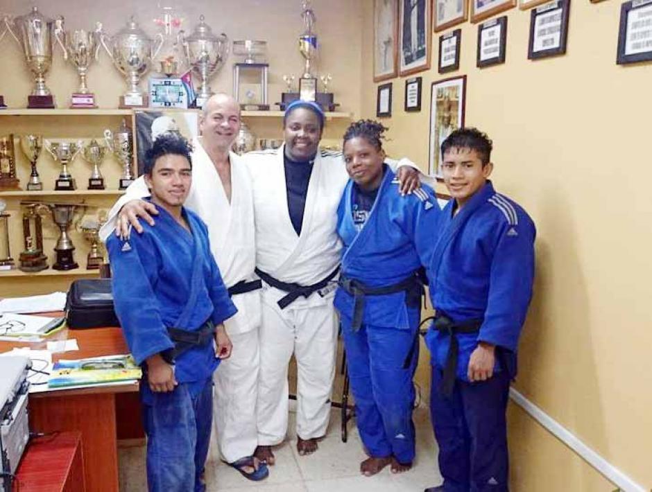 Mirla Nolberto y José Ramos judo Guatemala foto