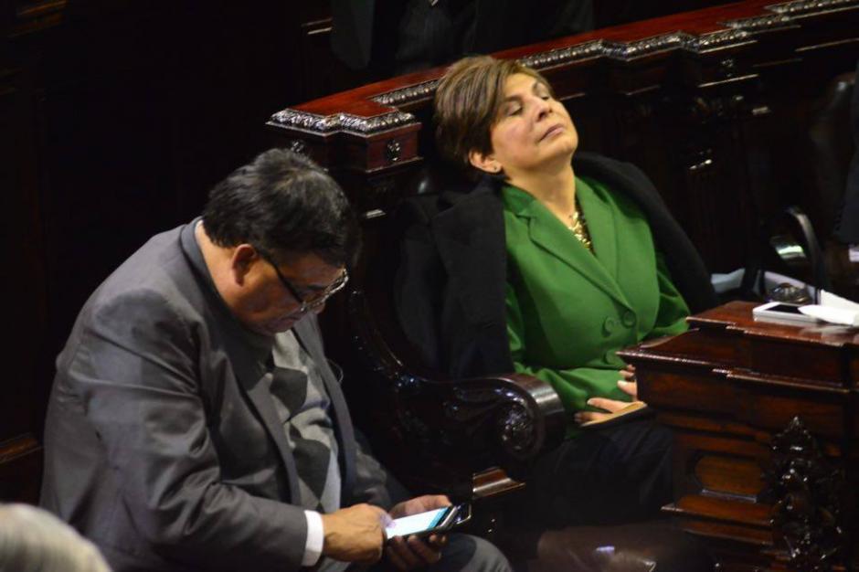 Nineth Montenegro, de Encuentro por Guatemala, creyó que el Congreso no aprobaría el Presupuesto. (Foto: Jesús Alfonso/Soy502)