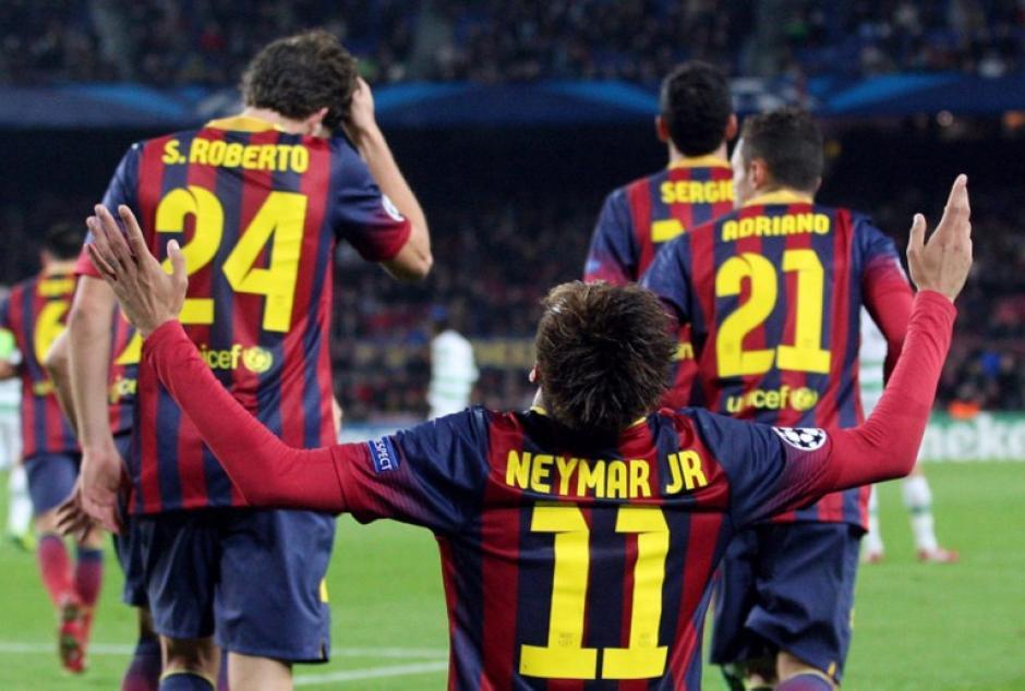 Neymar es el primer jugador en anotar un triplete en la Copa Libertadores y uno en la UEFA Champions League. (Foto: Quique García/AFP)