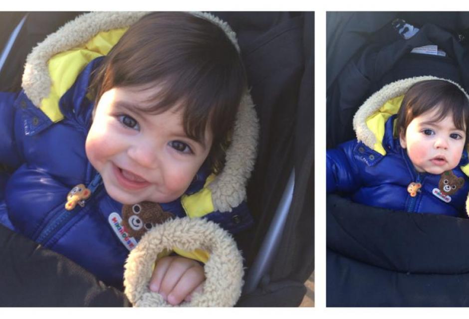 Milan en su primer viaje a Londres juanto a su madre.
